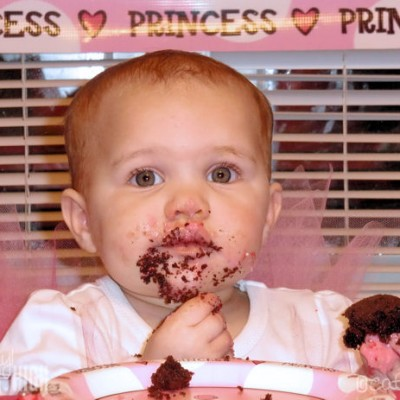Wordless Wednesday – Baby Cake Face