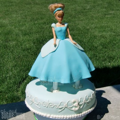 3D Cinderella Doll Cake fit for a Princess