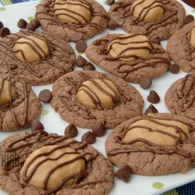 Yummy Chocolate Peanut Butter Brownie Cookies from Duncan Hines {Giveaway}