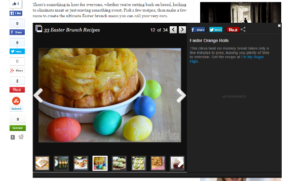 Easter Orange Rolls on Huffington Post