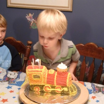 Wordless Wednesday – Lucian's Birthday Train Cake