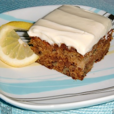 Zucchini Pineapple Cake with Cream Cheese Frosting
