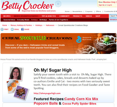 betty crocker featured halloween recipes