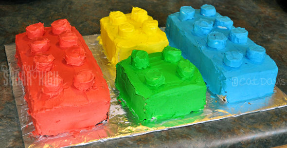 lego cake blocks four colors