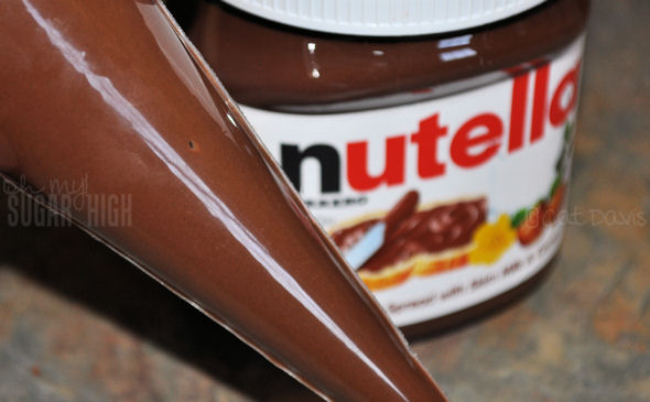 nutella bottle and piping bag