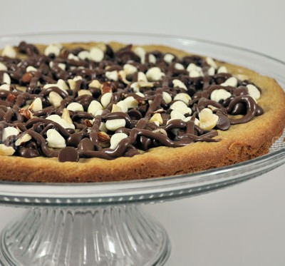 Triple Chocolate Hazelnut Cookie Pizza Recipe