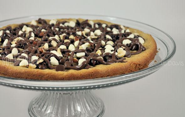 Triple Chocolate Hazelnut Cookie Pizza Recipe Oh My