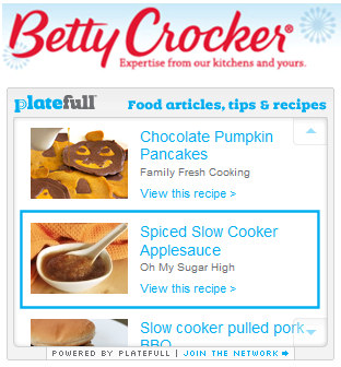 plateful widget betty crocker