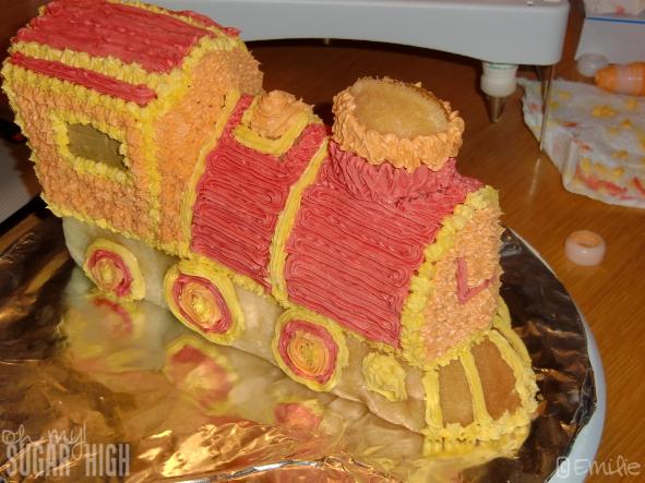Wilton 3-D Express Train Cake Tutorial - Oh My! Sugar High