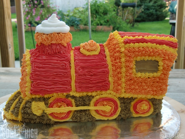 Wilton 3 D Express Train Cake Tutorial Oh My Sugar High