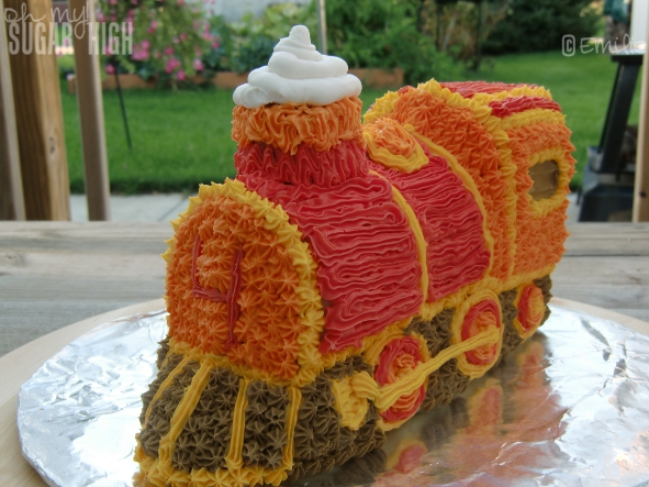 wilton train cake