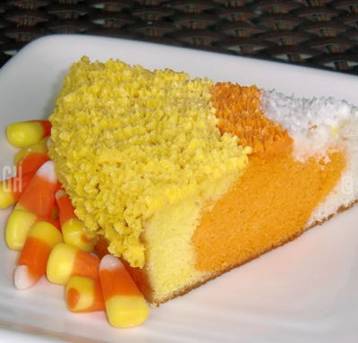 Fall Baking – Candy Corn Cake