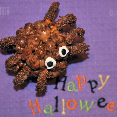 Halloween Treat – Cocoa Puffy Spider Bites