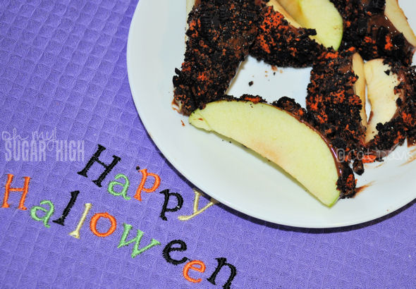 halloween oreo apple dippers