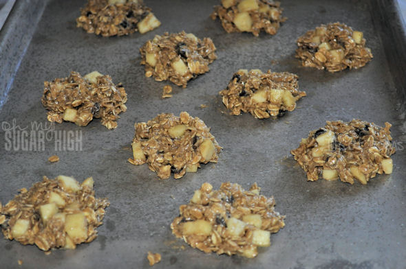 oatmeal apple cookies on sheet