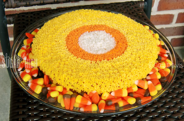 round candy corn cake