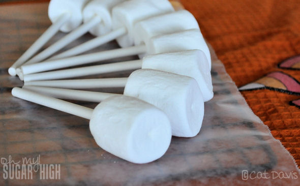 marshmallows on a stick