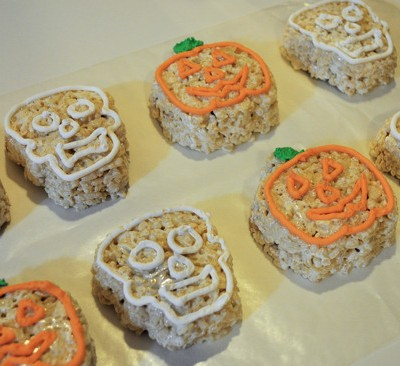 Pumpkins & Skulls Halloween Cereal Treats