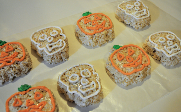 pumpkin cereal treats