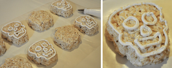 skeleton rice crispy treat
