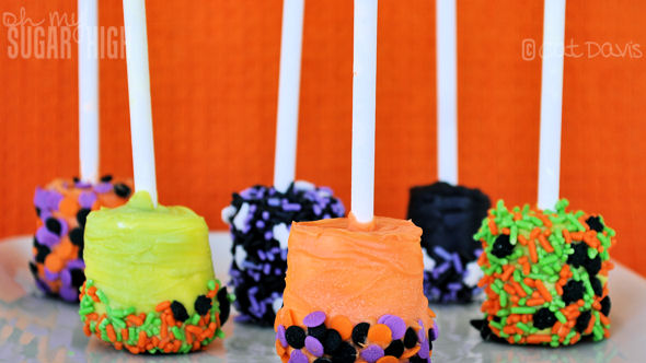 spooky dipped marshmallows halloween