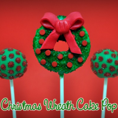 Christmas Wreath Cake Pops