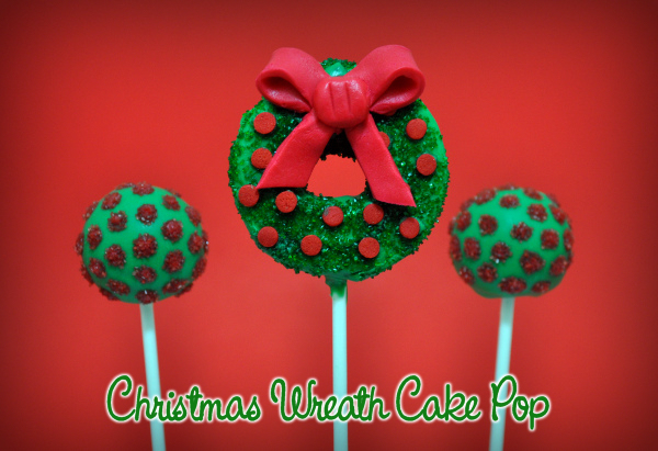 Christmas Wreath Cake Pop
