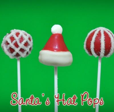 Santa's Hat Cake Pops