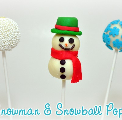 Snowman & Snowball Winter Cake Pops