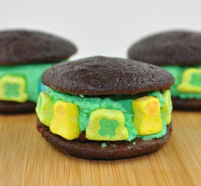 Lucky Little Whoopie Pies for St. Patrick's Day