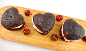 chocolate covered cherry whoopie pies