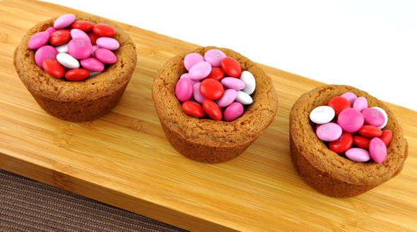 valentines day cookie cups