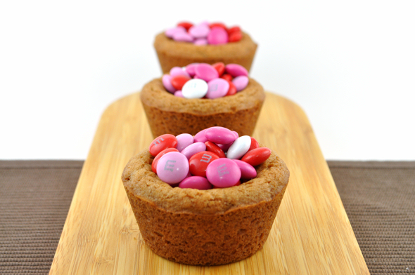 valentines day mm cookie cups