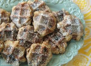 Chocolate Chip Waffle Cookies 9
