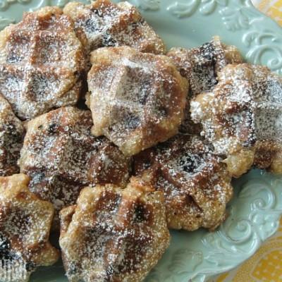 Sweet Chocolate Chip Waffle Cookies