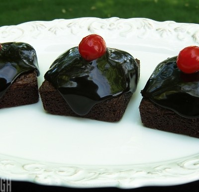 Glazed Chocolate Brownie Squares