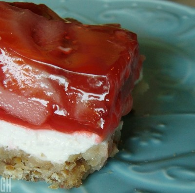 Strawberry Pretzel Squares from Kraft Foods