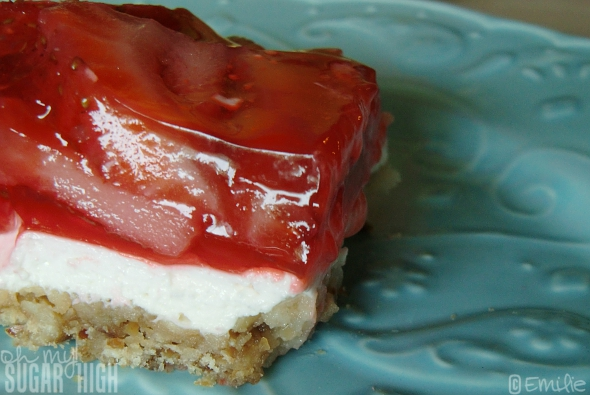 Strawberry Pretzel Squares from Kraft Foods — Oh My! Sugar High