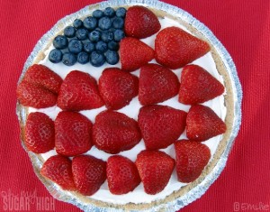 American Flag Cheesecake 1