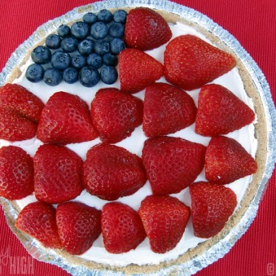American Flag Cheesecake from Kraft : An Easy Americana Dessert