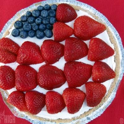 American Flag Cheesecake from Kraft : An Easy Americana Dessert