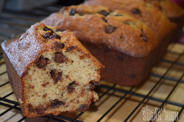 Banana Chocolate Chip Bread Recipe — Dishmaps