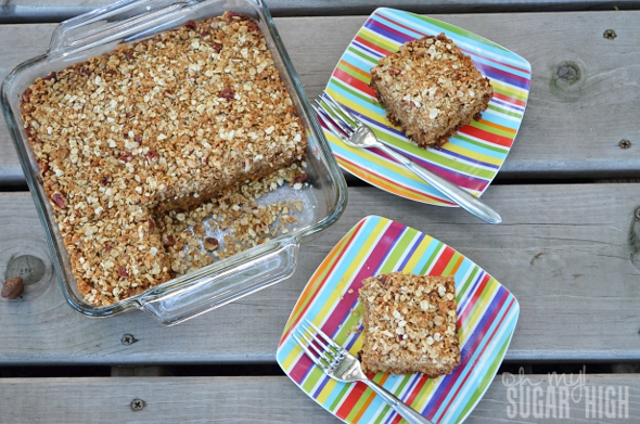 Melt In Your Mouth Banana Oatmeal Crumb Cake