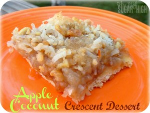Apple Coconut Crescent Dessert