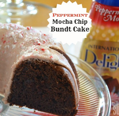 Peppermint Mocha Bundt Cake Featuring International Delight #IDBaking