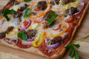 Sweet Sausage Peppers Pizza