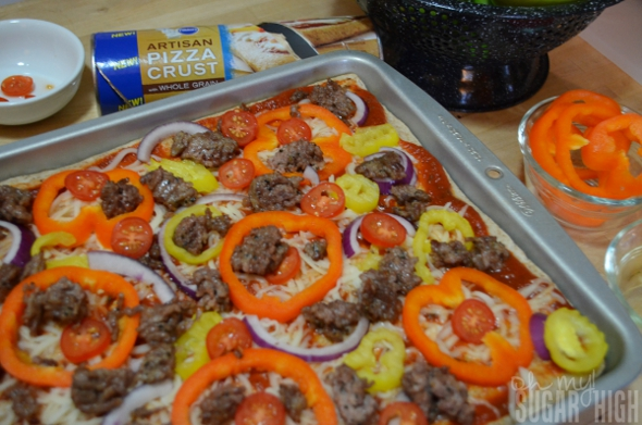 Spicy Sausage And Sweet Pepper Pizza Recipe — Dishmaps