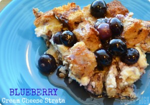 Blueberry Cream Cheese Strata Breakfast