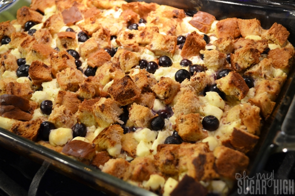 Blueberry Cream Cheese Strata Recipe