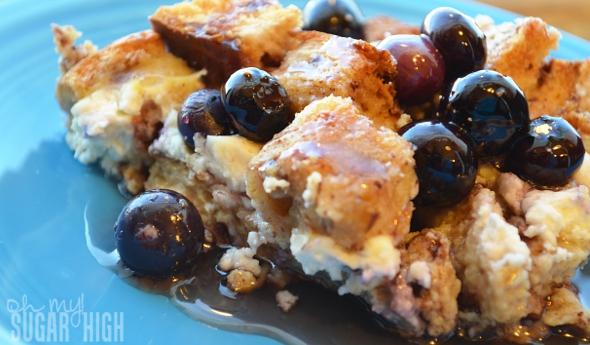 Blueberry Cream Cheese Strata for Brunch